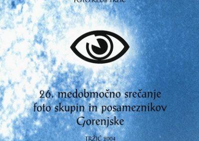 JSKD 2004 26. medobčinsko srečanje foto skupin in posameznikov Gorenjske katalog razstave 3a