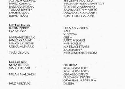 JSKD 2004 26. medobčinsko srečanje foto skupin in posameznikov Gorenjske katalog razstave 3c