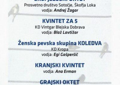 JSKD 2011 Koncert malih pevskih skupin Gorenjske vabilo 3b