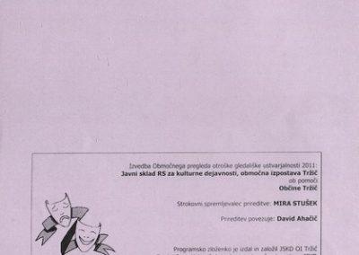 JSKD 2011 Območni pregled otroške gledališke ustvarjalnosti sezona 2010 2011 d vabilo 3d