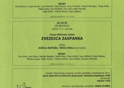 JSKD 2011 Območni pregled otroške gledališke ustvarjalnosti sezona 2010 2011 vabilo 3c