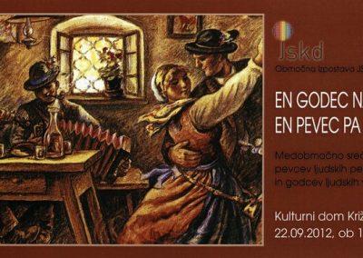 JSKD 2012 En godec nam gode, en pevec pa poje vabilo 3a