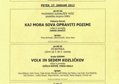 JSKD 2012 Območni pregled otroške gledališke ustvarjalnosti 2011 2012 vabilo 3c