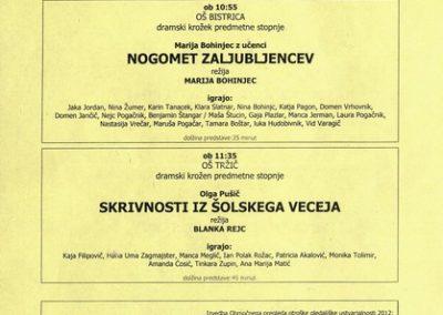 JSKD 2012 Območni pregled otroške gledališke ustvarjalnosti 2011 2012 vabilo 3d