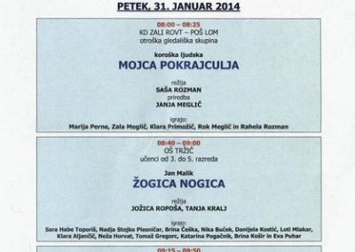 JSKD 2014 Območni pregled otroške gledališke ustvarjalnosti sezona 2013 2014 vabilo 3c