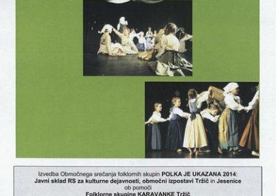 JSKD 2014 Polka je ukazana Srečanje otroških folklornih skupin območnih izpostav Jesenice in Tržič vabilo 3d