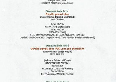 JSKD 2014 Spomladanski koncert Območno srečanje otroških in mladinskih pevskih zborov vabilo 3c