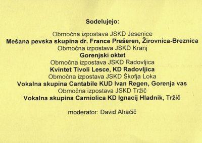 JSKD 2014 Srečanje malih pevskih skupin Gorenjske vabilo 3b