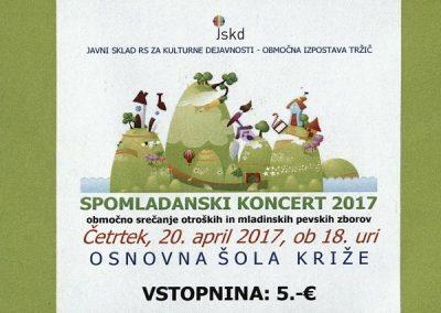 JSKD 2017 Spomladanski koncert 2017 vstopnica 3