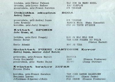 Zveza kulturnih organizacij Tržič 1992 XI. revija tržiških pevskih zborov TRŽIČ POJE 92 vabilo 3b