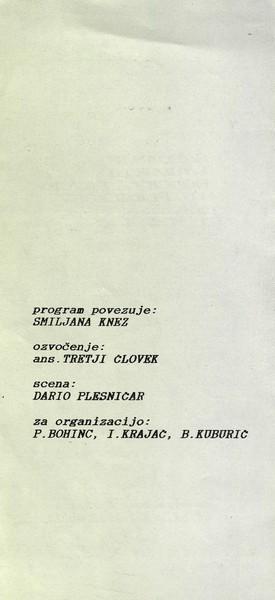 Zveza kulturnih organizacij Tržič 1993 Srečanje ljudskih godcev, pevcev in plesalcev vabilo 3c